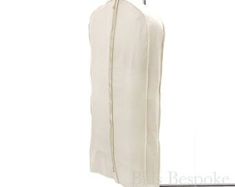 100% Cotton Canvas Gusseted Garment Bag, For 4-5 Suits or Gowns