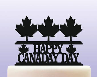 Canada Day Acrylic  Cake Topper