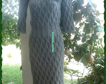 Winter dress woman / crochet /on order