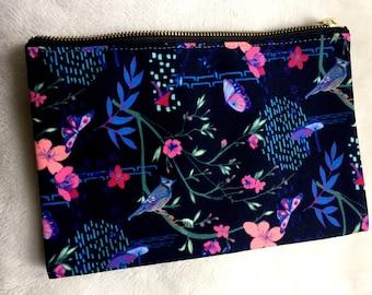 Midnight Blooms Zip Pouch