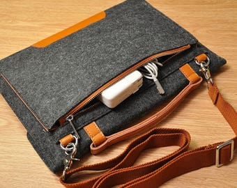 Carrying case for macbook, dell xps,new surface pro case laptop case macbook pro 13 inch case Surface Laptop sleeve 13.3 with pockets-TFL005