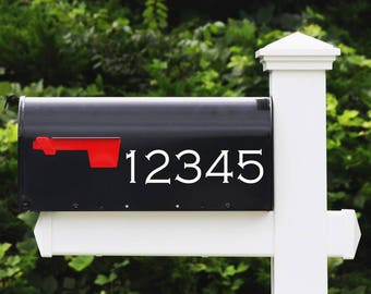 House Number Decal - Gothic Font - Mailbox Numbers, Address Number Stickers, Home Decor