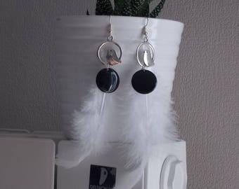 """Earrings fantasies """"White Bird"""""""