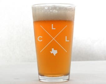 College Station Pint Glass | College Station Glass - Beer Glass - Pint Glass - Beer Glasses - Pint Glasses - Beer Mug - College Station