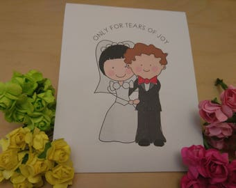 20 Tears of Joy Tissue Packs, Wedding Tissues, for tears of joy, happy Tears Packs, couple ,Customized tissue packs