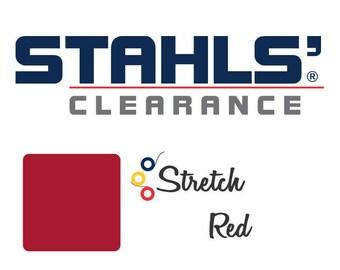 "12"" x 15"" - 15 Craft Sheets - Stahls' Stretch - Iron-on Heat Transfer Vinyl - HTV - Red"