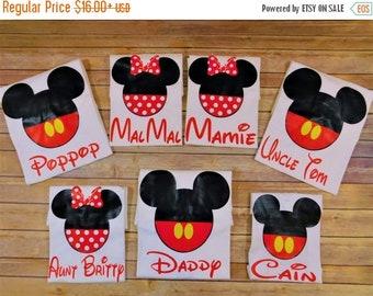 ON SALE Family Disney shirts - Mickey Minnie shirts - Family shirts - family birhday shirts - Family trip - Custom Disney shirt with name