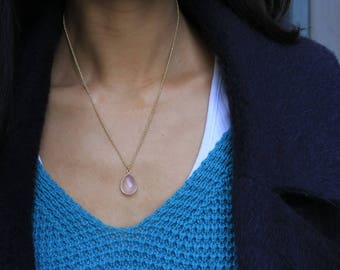 "Necklace ""Caprice"" rose quartz"