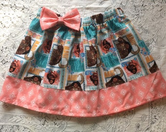 Disney inspired Moana Maui baby toddler girl Elastic Waist Twirl Skirt