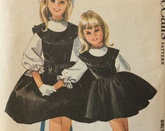 McCall's 6499 girls jumper & blouse size 8 vintage 1960's sewing pattern  Designed by Helen Lee
