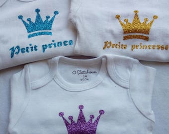 White 3 months Bodysuit for little Princess or prince
