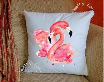 Cushion Cover - Lovey Dovey Flamingos