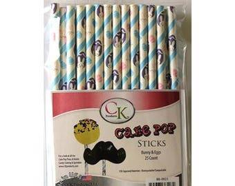 BUNNIES & EGGS Cake Pop Sticks