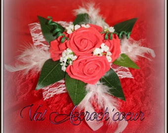 centerpiece romance red and white