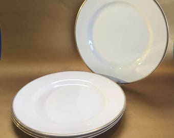 "4 - 10"" Johnson Brothers China similar to Limoges France Elite Works Dinner Plates"