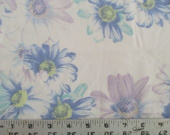 vintage sheet fat quarter, sewing supplies, quilting supplies, floral sheet, bed linen, fat quarters, craft fabric, vintage fabric,