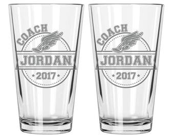Track and Field, Track coach, Track coach gift, Coach gift, Coach beer glass, Track and Field gifts, Track team, Personalized coach gift