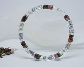 real flower bracelet, jewelry, garden bracelet, modern jewelry, faceted bangle, flower bangle, real flowers, bangles, bracelet,flower bangle