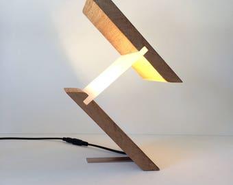 Lamp, Lamps, Table Lamp, Desk Lamp, Modern Lighting, Unusual Gift, Gift for home, Stylish Lamp, Led Lamp, Birthday gift for man, Wood Lamp