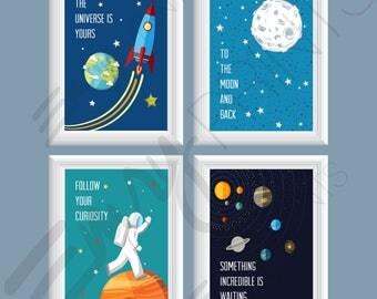 Solar system art | Etsy