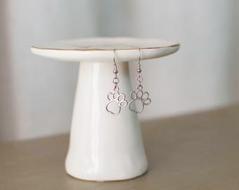 Dog Lover Jewelry, Dog Lover Earrings, Dog Jewelry, Dog Earrings, Paw Print, Paw Print Jewelry