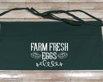 Egg Apron - Chicken Apron - Homesteading Apron - Crazy Chicken Lady - Homesteader Apron - Chicken Lover - Backyard Farmer Gift - Adult Apron