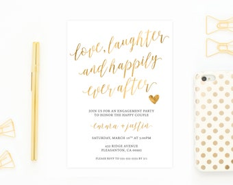 Engagement Party Invitation, Engagement Party Invitation Printable, DIY Engagement Party Invites, Engaged, Engagement, Engagement Invite 739