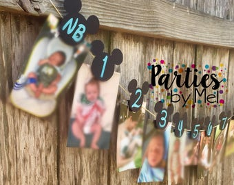 Mickey Mouse 1st Year Picture Banner
