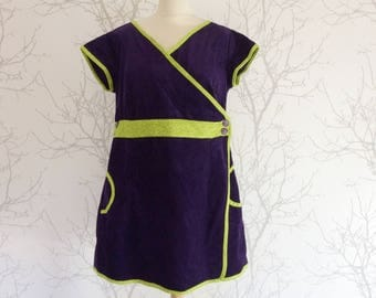 Tunic purple corduroy, Apple green finishes. Size 48-50