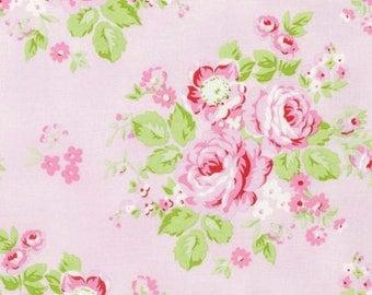 Rambling Rose in pink-by Tanya Whelan-ONE yard