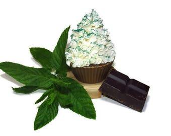 Chocolate Peppermint Cupcake Soap