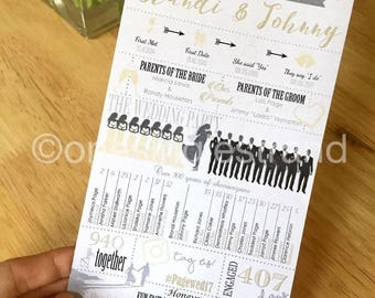 Digital ONLY: Personalized Wedding Infographic Program
