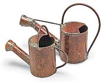 Fairy Garden  - Watering Can - Set Of 2 - Miniature