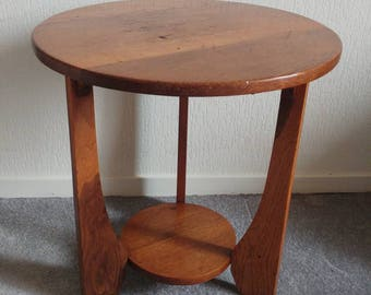 Antique Art Deco Side Table Coffee Table Wooden Table