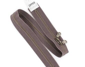 washed cotton YKK zipper 60cm