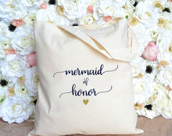 Mermaid of Honor Tote - Maid of Honor Tote - Bridal Party Tote