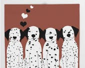Dogs Throw Blanket Dalmatian Personalized Colors 68x80  51x60 88x104 Bedding Gift Cute Fleece Birthday Women Pets Nature Baby Shower Dorm