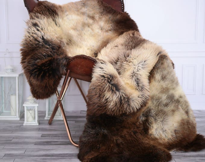 Triple Sheepskin Rug | Sheepskin rug | Shaggy Rug | Chair Cover | Runner Rug | IBrown Rug  | Beige Sheepskin