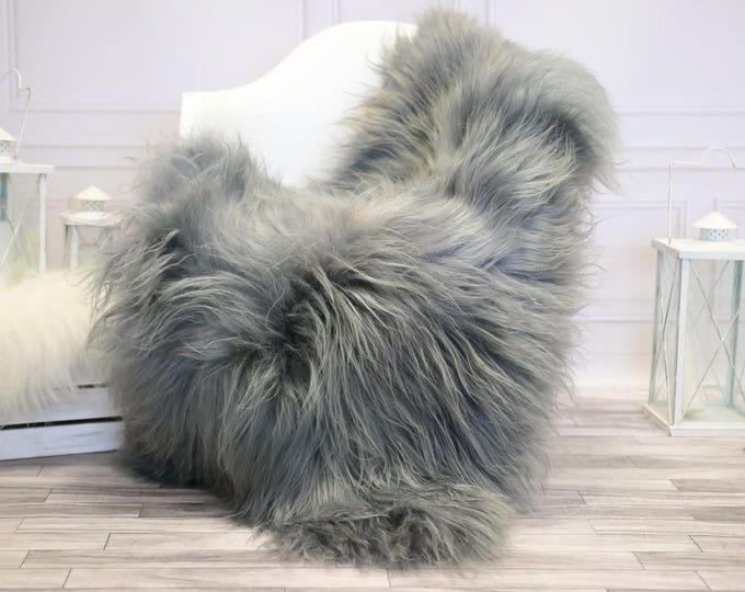 Icelandic Sheepskin   Real Sheepskin Rug   Gray Sheepskin Rug   Fur Rug    Home decor #JANISL32
