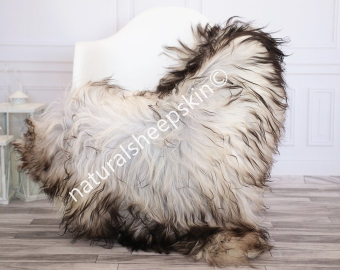Icelandic Sheepskin | Real Sheepskin Rug | Gray Sheepskin Rug | Fur Rug | Homedecor #febisl11