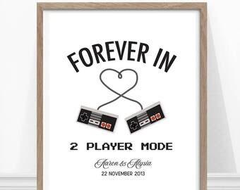 Video Game Wedding Geek Gaming Art Gift For Poster