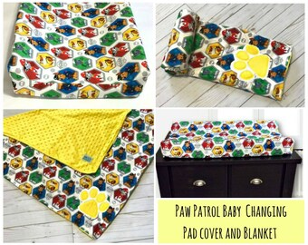 Paw Patrol Baby  Changing Pad Cover & Baby Blanket Set  / Baby Nursery