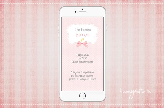 Invitation digital baptism invitation whatsapp baby ribbon sms stopboris Image collections