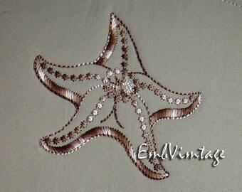 MACHINE EMBROIDERY Desigm - starfish - Instant Download - 3 sizes