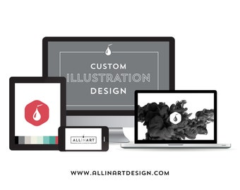 I'm ready to work on your project! Custom Illustration for your branding personal needs.