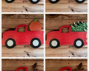 Red Truck Door Hanger
