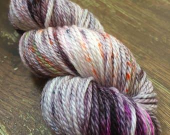 Hand Dyed Superwash Merino Aran/Worsted Yarn Wool, 100g/3.5oz, 'Bad Romance'