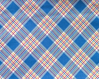 Happy Campers  Blue Plaid by American Jane for Moda Fabrics Fat Quarter OOP HTF