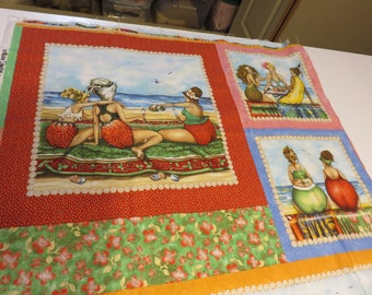 Fruit Beach Ladies 2 yards available @ 11.99 per yard  Free Shipping