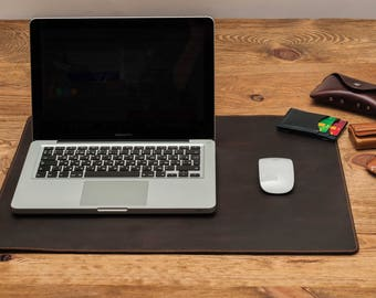 Double sided leather desk pad leather mouse pad leather desk mat desk pad mouse pad leather mouse pad desk mat gift for him leather pad